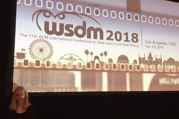 Brienna Herold, 1st year Scholar, at WSDM18